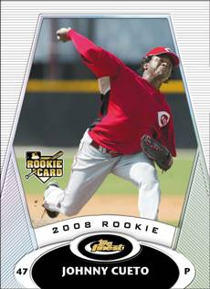 2008 Topps Finest Redempton Johnny Cueto rookie card
