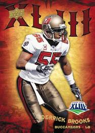 Upper Deck Derrick Brooks Super Bowl card set