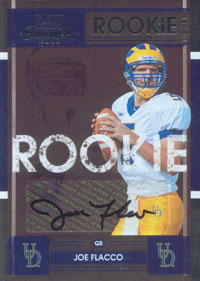Donruss College Rookie Tickets Joe Flacco card