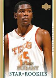 2007-2008 Upper Deck Kevin Durant Star Rookies basketball card