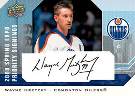 Wayne Gretzky Priority Signings card