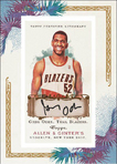 Greg Oden autographed Allen & Ginter basketball card