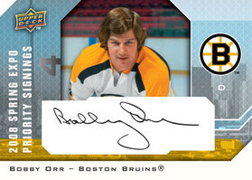 Bobby Orr Priority Signings Autographed card