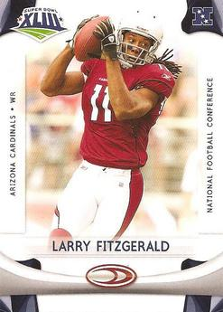 Upper Deck Super Bowl XLIII Larry Fitzgerald card