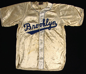 1940s Whitey Ford  Brooklyn Dodgers satin jersey