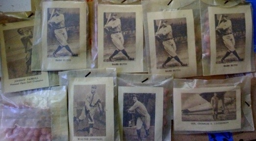 1929 Star Player Candy unopened packs with Ruth, Gehrig, Johnson