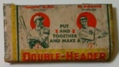 1933 Double-Headers baseball pack