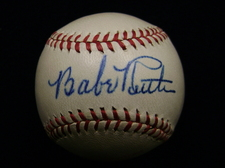 Babe Ruth autographed baseball