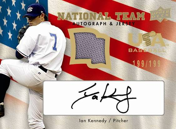 Upper Deck Team USA Ian Kennedy card