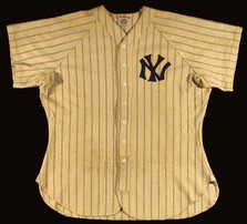 Lou Gehrig game-worn jersey