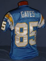 Antonio Gates game-used San Diego Chargers throwback jersey