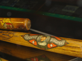 Vintage sports memorabilia: Louisville Slugger decal bats