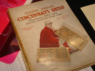 1919 Cincinnati Reds World Series program vs Black Sox