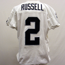 Jamarcus Russell game worn jersey
