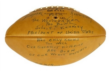 1963 Pro Bowl autographed football from Kennedy Museum Collection