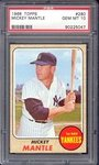 A PSA 10 1968 Topps Mickey Mantle card finds a new home via eBay at over ,000.