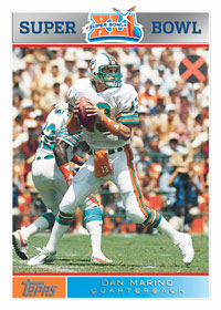 Dan Marino football card from Topps Super Bowl exclusive card set