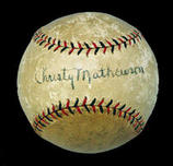 Christy Mathewson autographed ball