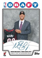Michael Beasley Draft Day Topps rookie card