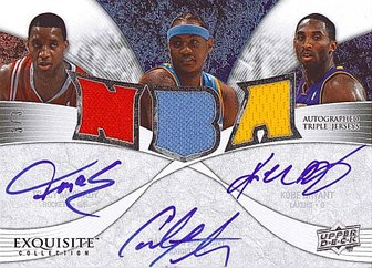 Exquisite Triple Autographed Jersey Card