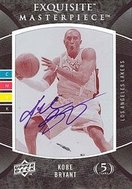 Exquisite Press Plate Kobe Bryant autographed card