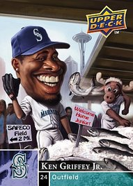 2009 Upper Deck Ken Griffey Jr. charicature card