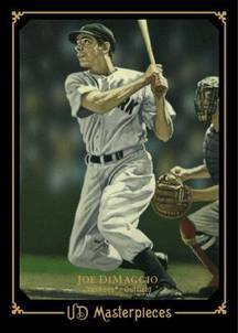 2008 Upper Deck Masterpieces Joe DiMaggio