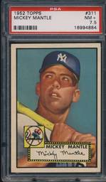 1952 Topps Mickey Mantle PSA 7.5