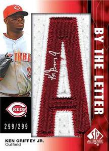 SP Authentic By the Letter Ken Griffey Jr. card