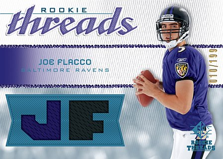 Upper Deck SP Rookie Threads Joe Flacco football card