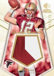 SP Rookie Threads Super Swatch Matt Ryan football card