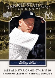 Yankee Stadium Legacy Whitey Ford card