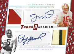 Joe Montana/Paul Hornung autographed card from 2006 Topps Paradigm