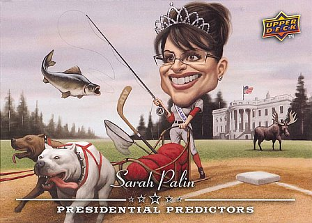 2008 Upper Deck Sarah Palin baseball card