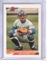 Mike Piazza 1992 Bowman rookie card