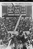 Goal posts torn down at 1967 Ice Bowl