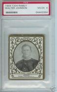 1909 T204 Ramly Walter Johnson