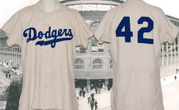 Game worn Jackie Robinson jersey