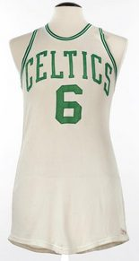 Bill Russell game-worn Celtics jersey
