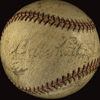 Ball hit by Babe Ruth for his 712th home run