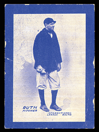 1914 Baltimore Sun Babe Ruth rookie card
