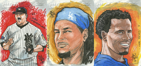 2008 Topps sketch cards