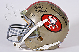 John Taylor game-worn helmet