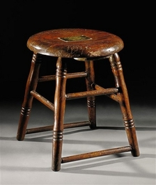 Stool from 1926 Dempsey-Tunney championship fight