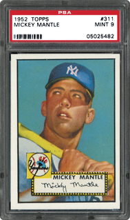 1952 Topps Mickey Mantle PSA 9