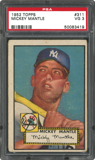 1952 Topps Mickey Mantle PSA 3