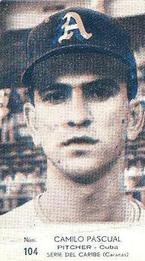 1959 Venezuelan League card of Camilo Pascual