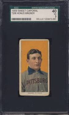 T206 Honus Wagner graded SGC 40