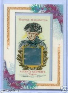 2007 Topps Allen & Ginter card featuring strands of George Washington's hair